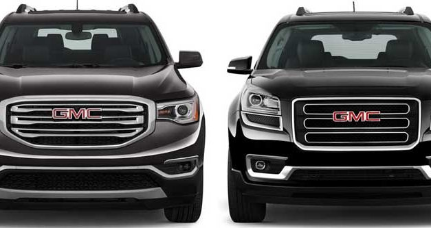 2017 GMC Acadia Compared